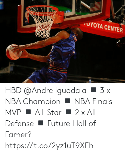 Future: HBD @Andre Iguodala  ◾️ 3 x NBA Champion  ◾️ NBA Finals MVP ◾️ All-Star ◾️ 2 x All-Defense ◾️ Future Hall of Famer?   https://t.co/2yz1uT9XEh