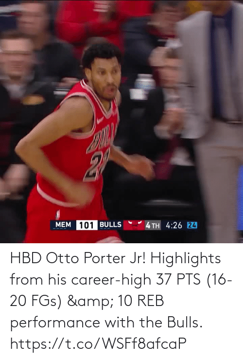 pts: HBD Otto Porter Jr!   Highlights from his career-high 37 PTS (16-20 FGs) & 10 REB performance with the Bulls.    https://t.co/WSFf8afcaP