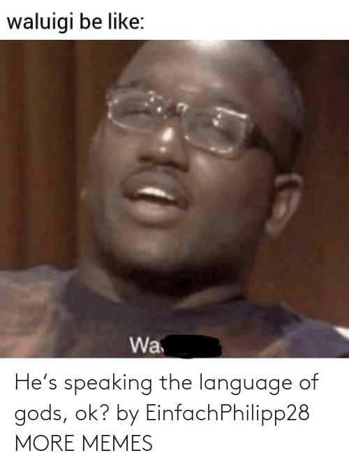 language: He's speaking the language of gods, ok? by EinfachPhilipp28 MORE MEMES
