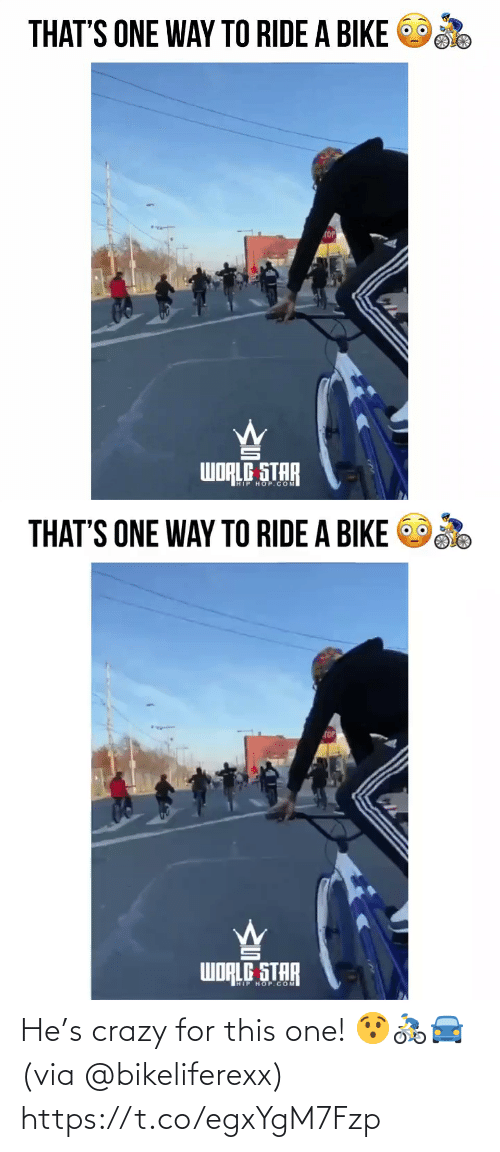 crazy: He's crazy for this one! 😯🚴♂️🚘 (via @bikeliferexx) https://t.co/egxYgM7Fzp