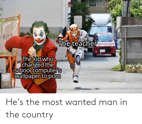 country: He's the most wanted man in the country