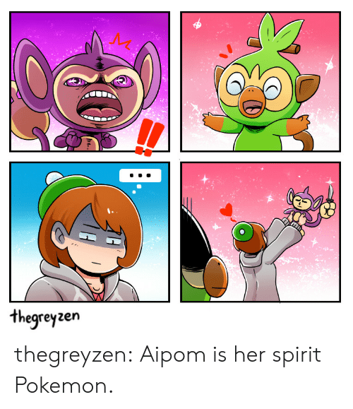Pokemon, Target, and Tumblr: hegrey zen thegreyzen:  Aipom is her spirit Pokemon.