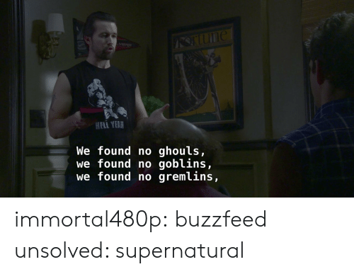 ghouls: HELI YEAR  We found no ghouls,  we found no goblins,  we found no gremlins, immortal480p: buzzfeed unsolved: supernatural
