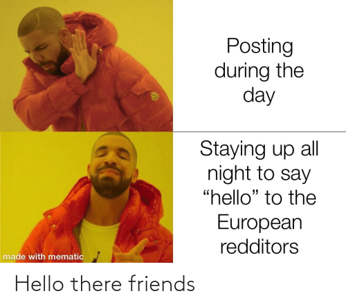 Friends, Hello, and Hello There: Hello there friends