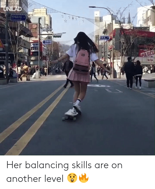 balancing: Her balancing skills are on another level 😲🔥