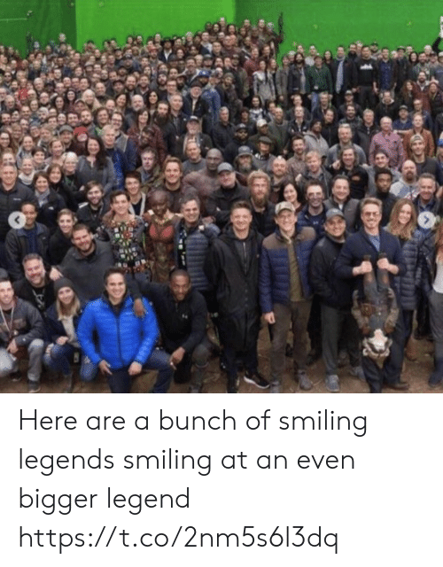 Memes, 🤖, and Legend: Here are a bunch of smiling legends smiling at an even bigger legend https://t.co/2nm5s6l3dq