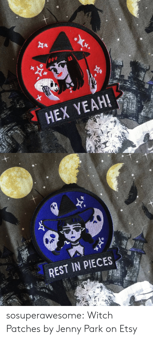 Target, Tumblr, and Yeah: HEX YEAH!   REST IN PIECES sosuperawesome: Witch Patches by Jenny Park on Etsy
