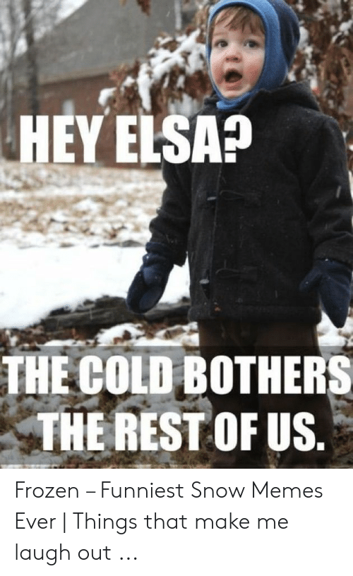Funny Snow Memes: HEY ELSA?  THE COLD BOTHERS  THE REST OF US Frozen – Funniest Snow Memes Ever | Things that make me laugh out ...
