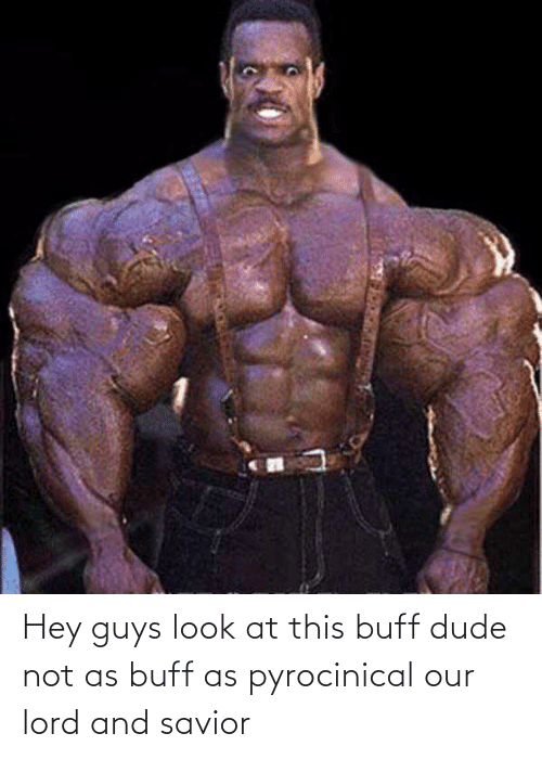 Dude, Lord, and Buff: Hey guys look at this buff dude not as buff as pyrocinical our lord and savior