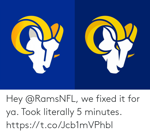 Fixed It: Hey @RamsNFL, we fixed it for ya. Took literally 5 minutes. https://t.co/Jcb1mVPhbl