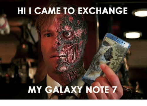 Galaxy Note 7: HI I CAME TO EXCHANGE  MY GALAXY NOTE 7