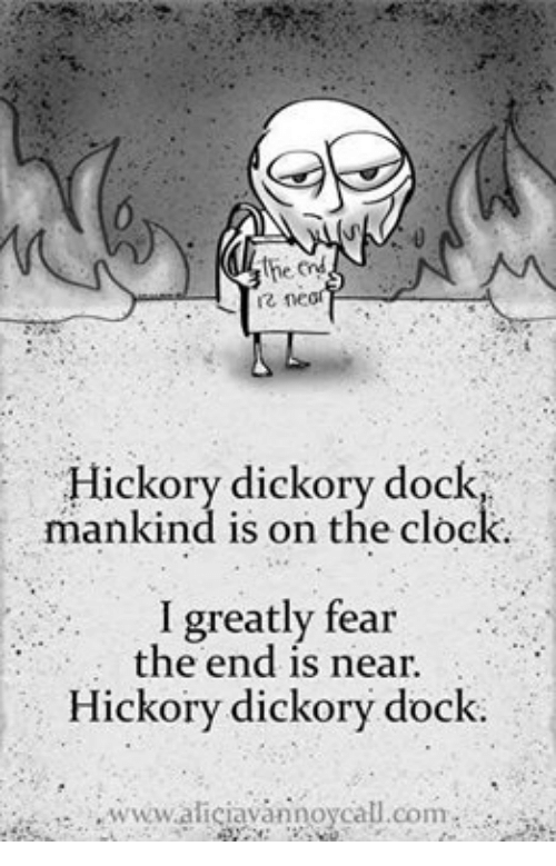 Hickory dickory dock sucked a cock