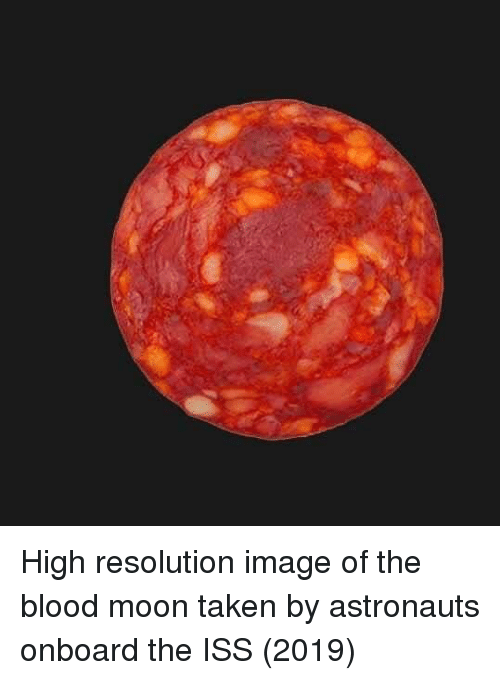 astronauts: High resolution image of the blood moon taken by astronauts onboard the ISS (2019)