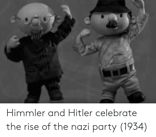 Party, Hitler, and Nazi: Himmler and Hitler celebrate the rise of the nazi party (1934)