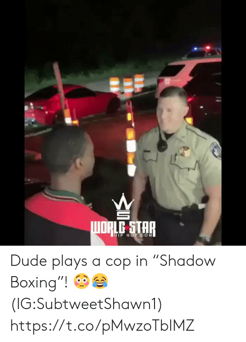 "Boxing: HIP HOP. COM Dude plays a cop in ""Shadow Boxing""! 😳😂 (IG:SubtweetShawn1) https://t.co/pMwzoTblMZ"