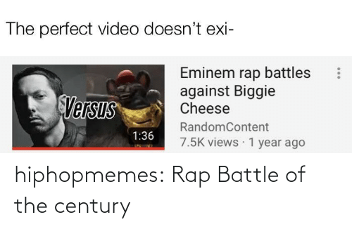 Rap, Rap Battle, and Tumblr: hiphopmemes:  Rap Battle of the century