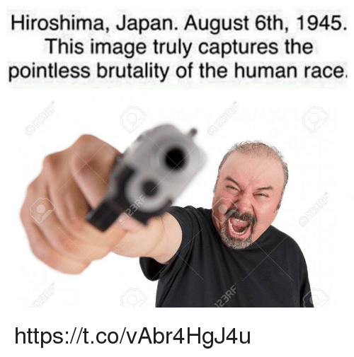 hiroshima: Hiroshima, Japan. August 6th, 1945.  This image truly captures the  pointless brutality of the human race. https://t.co/vAbr4HgJ4u