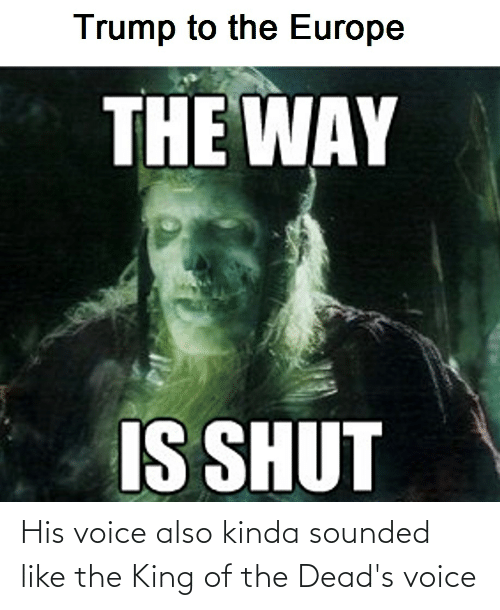 deads: His voice also kinda sounded like the King of the Dead's voice