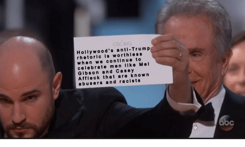 Trump, Mel Gibson, and Anti: Hollywood's anti-Trump  rhetoric is worthless  when we continue to  celebrate men like Mel  Gibson and Cas e y  Affleck that are known  abusers and racists