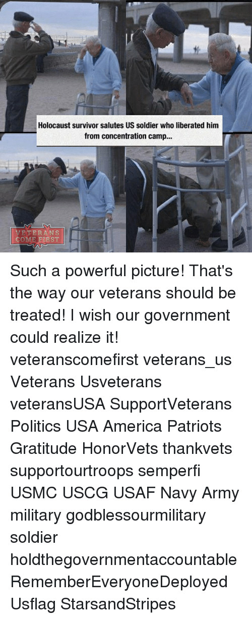 saluteing: Holocaust survivor salutes US soldier who liberated him  from concentration camp...  VETERANS  COME FIRST Such a powerful picture! That's the way our veterans should be treated! I wish our government could realize it! veteranscomefirst veterans_us Veterans Usveterans veteransUSA SupportVeterans Politics USA America Patriots Gratitude HonorVets thankvets supportourtroops semperfi USMC USCG USAF Navy Army military godblessourmilitary soldier holdthegovernmentaccountable RememberEveryoneDeployed Usflag StarsandStripes