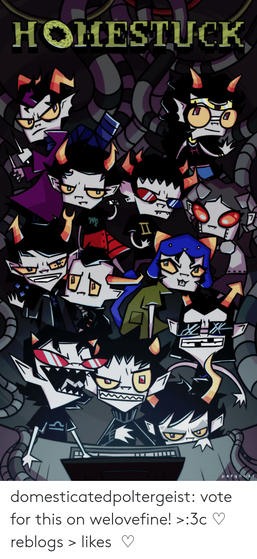 Community, Target, and Tumblr: HOMESTUCK  7  patghost domesticatedpoltergeist:  vote for this on welovefine! >:3c   ♡ reblogs > likes  ♡