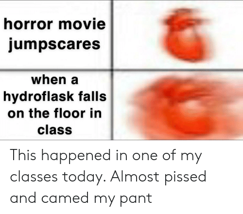 Horror Movie Jumpscares When a Hydroflask Falls on the Floor in