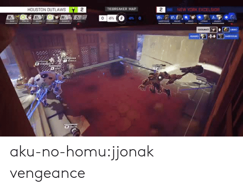 New York, Tumblr, and Blog: HOUSTON OUTLAWSY 2  TIEBREAKER MAP  2  NEW YORK EXCELSIO  18  97  94  2-  49% 0 aku-no-homu:jjonak vengeance