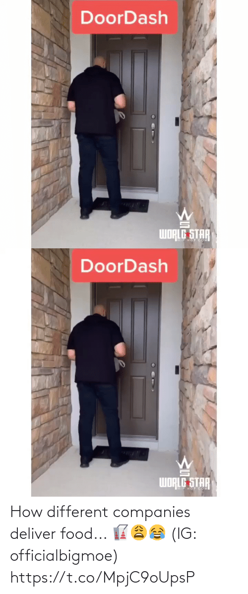 companies: How different companies deliver food... 🥡😩😂 (IG: officialbigmoe) https://t.co/MpjC9oUpsP