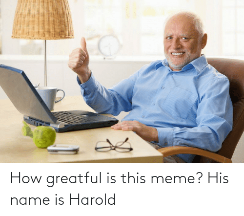 Greatful: How greatful is this meme? His name is Harold