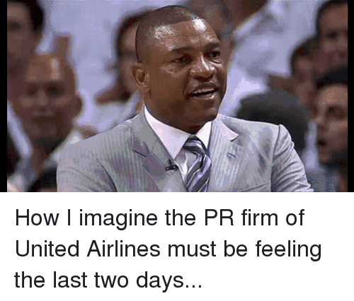 Doc Rivers: How I imagine the PR firm of United Airlines must be feeling the last two days...