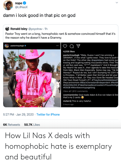 Nas: How Lil Nas X deals with homophobic hate is exemplary and beautiful