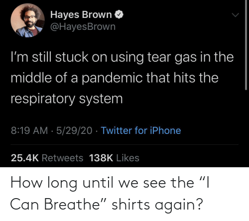 "again: How long until we see the ""I Can Breathe"" shirts again?"