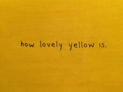 How, Yellow, and Lovely: how lovely yellow 1s.