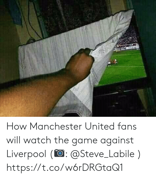 Manchester: How Manchester United fans will watch the game against Liverpool (📷: @Steve_Labile ) https://t.co/w6rDRGtaQ1