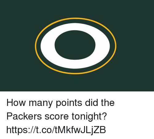 Football, Nfl, and Sports: How many points did the Packers score tonight? https://t.co/tMkfwJLjZB