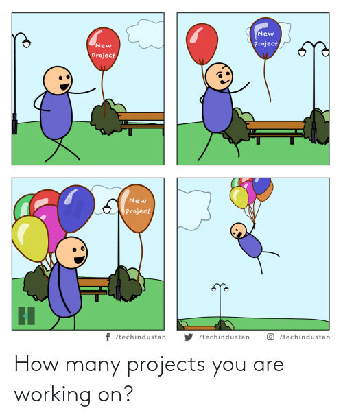 projects: How many projects you are working on?