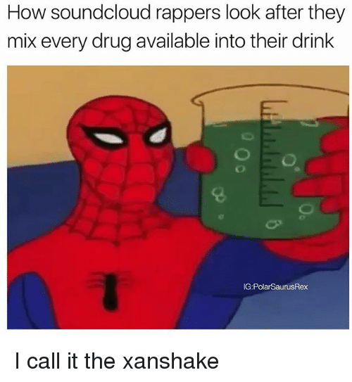 Soundclouder: How soundcloud rappers look after they  mix every drug available into their drink  G:PolarSaurusRex I call it the xanshake