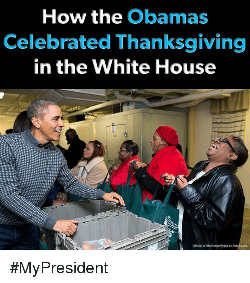 Celebrated: How the Obamas  Celebrated Thanksgiving  in the White House  Officlal White House Photo by #MyPresident