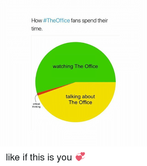 Critical Thinking: How #TheOffice fans spend their  time.  watching The Office  talking about  The Office  critical  thinking like if this is you 💞