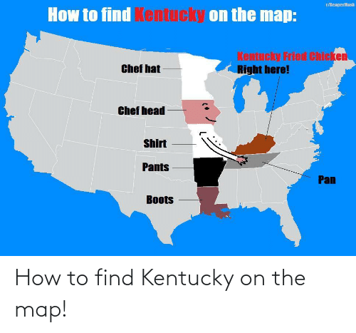 Kentucky: How to find Kentucky on the map!