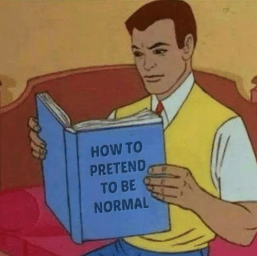 Be Normal: HOW TO  PRETEND,  TO BE  NORMAL