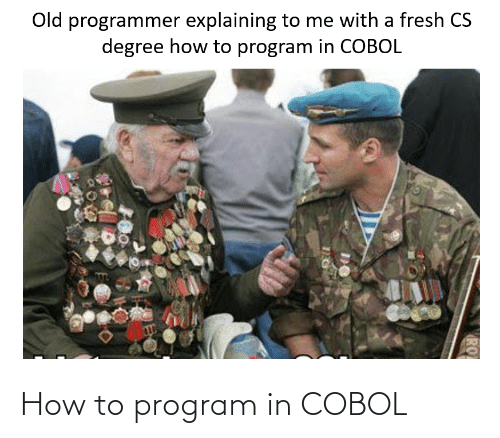 program: How to program in COBOL