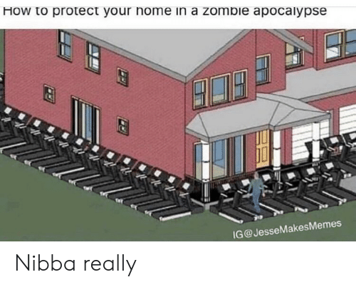 Home, How To, and Zombie: How to protect your home in a zombie apocalypse  G@JesseMakesMemes Nibba really