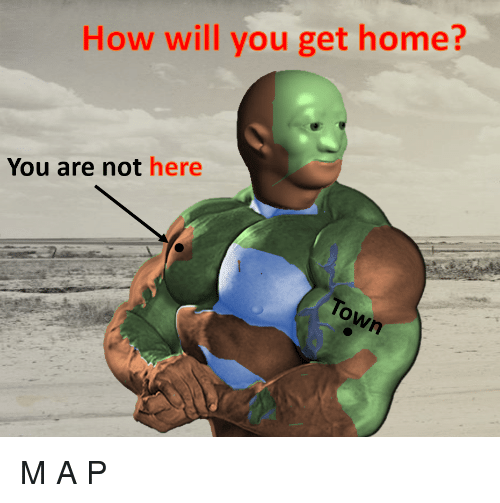 a&p: How will you get home?  You are not here M A̘̳̰͖̜͊̌̂̊̃͋͡͝͡ P