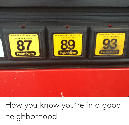 Know You: How you know you're in a good neighborhood