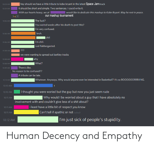 Empathy: Human Decency and Empathy
