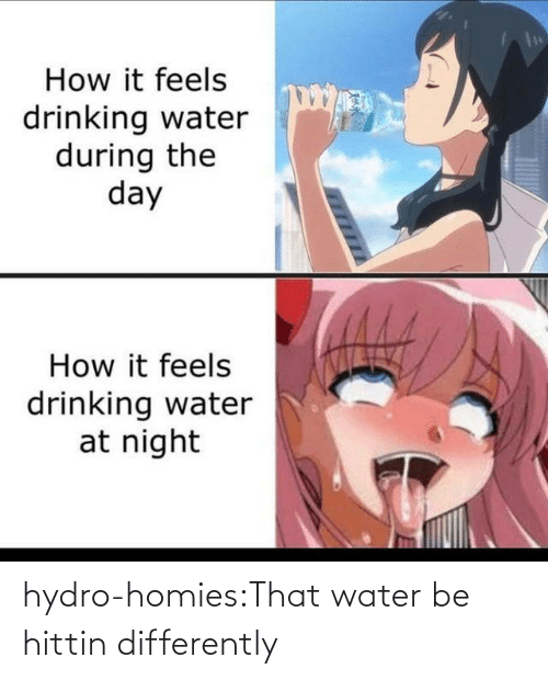 Water: hydro-homies:That water be hittin differently