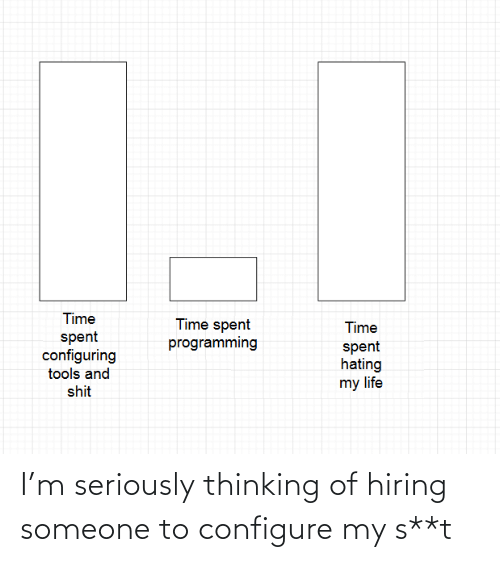 seriously: I'm seriously thinking of hiring someone to configure my s**t