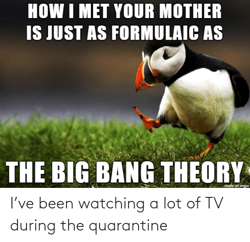 watching: I've been watching a lot of TV during the quarantine