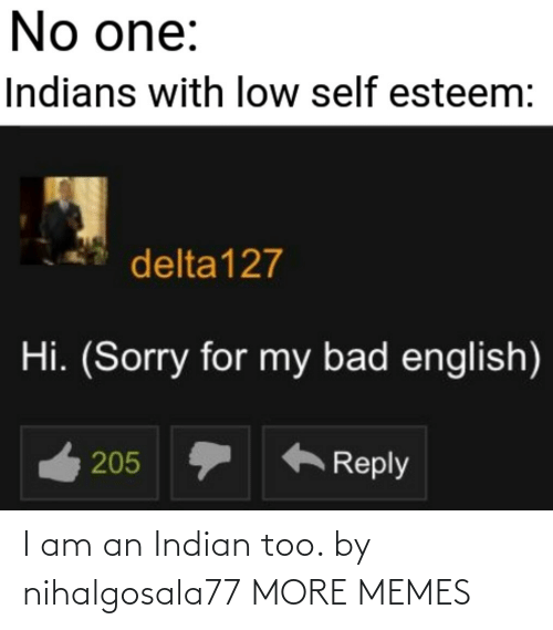 Indian: I am an Indian too. by nihalgosala77 MORE MEMES